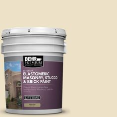 BEHR Premium Plus 5 gal. #MS-26 Chablis Cream Elastomeric Masonry, Stucco and Brick Paint
