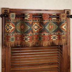 southwestern window treatments | Home Canyon Ridge Grommet Curtain Pair Saddle Brown 84 x 84: