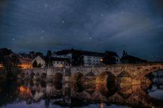 #hdr #bridge #town #sky #stars #river #water #night #lights #building #architecture #bricks #castle #old #photoshop #photoshopcs5 #nikcollection #vsco #vscocam #nikon #nikond3200