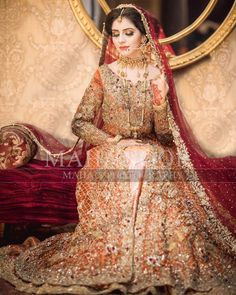 Collection of Pakistani Bridal Dresses Online by Top Pakistani Designers to Buy Online for Pakistani Girls looking for Traditional Bridal Dress Lehnga Maxi. Pakistani Bridal Dresses Online, Pakistani Bridal Makeup, Bridal Mehndi Dresses, Asian Wedding Dress, Pakistani Wedding Outfits, Bridal Dress Design, Indian Bridal Fashion, Wedding Dresses For Girls, Bridal Lehenga