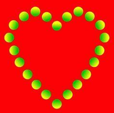 Valentines Day heart illusion