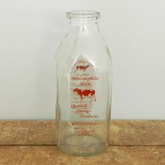 Vintage Dairy Milk Bottle Large - like these Angie - these are wicked