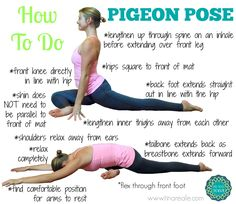 The pigeon pose useful for a good hip rotator stretch