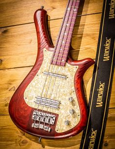 Warwick  Fortress Flashback Burgundy Red Transparent Satin Finish Swamp Ash Body Wood Purple Heart Fingerboard Wood Matching Pickguard and Trussrod Cover