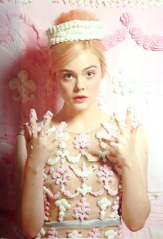 Elle Fanning in Spring 2013 Fashion Embellished by Will Cotton for New York Magazine's Spring Fashion 2013 Issue