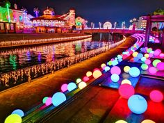 Anime Land, Japan Landscape, Amusement Park, Mystic, Environment, Night, Places, Composition, Travel