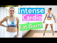 Intense Cardio Workout to BURN FAT  - 10 Minute | Rebecca Louise - YouTube