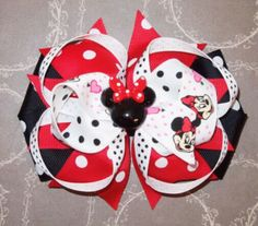 A personal favorite from my Etsy shop https://www.etsy.com/listing/168810926/minnie-mouse-inspired-hairbow-red-minnie