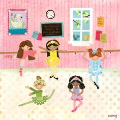 """Oopsy Daisy too Ballet Dancers Wall Art - 21x21"""".Opens in a new window  $29.99"""