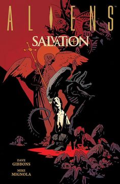 Aw Man this new  @artofmmignola cover for Aliens Salvation. Out in September.