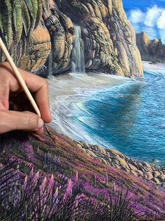 Brazil-based painter and surfer Carlos Carpinelli depicts stunning ocean scenes in amazing detail and color.