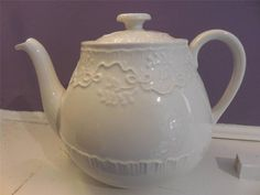 Wedgwood Ralph Lauren Claire teapot ca. 1989 - EXCELLENT!! #Wedgwood