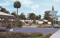 https://flic.kr/p/H9E1c7   Shangri-La Motel & Restaurant - Ocala, Florida   U.S. Highways 441-301 & 27, South of Ocala, Florida. New air conditioned. Modern sound proofed - Motel with dining room. 27 units, Tiled baths. Hot water heat - T. V. every room, room phones. Beautiful landscaping and Swimming Pool - Every comfort for the traveler. Mr. and Mrs. M. Leroy Shaw, Mr. and Mrs. Fred S. Guggenheimer - owners & Operators. Diners' Club, American Express, Carte Blanche accepted. AAA A...