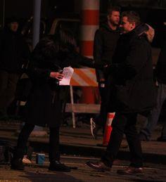 Lana & Josh goofing around on set (November 4, 2015)