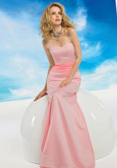 Endearing Sweetheart Neckline Pink Satin Bridesmaid Gowns