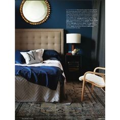 Bedroom / Navy Blue Bedroom found on Polyvore