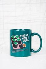 How I Roll Mug at Urban Outfitters Funny Posters, Take My Money, Online Gifts, Black Bear, Cool Items, Holiday Treats, Home Gifts, Cocoa, Urban Outfitters