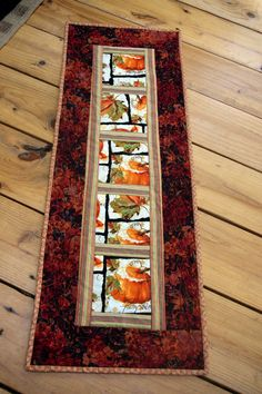 Autumn Fall Pumpkin Quilted Table Runner by MoranArtandQuilts