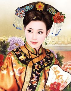 @PinFantasy - Vintage Chinese lady. ~~ For more:  - ✯ http://www.pinterest.com/PinFantasy/arte-~-la-mujer-en-el-arte-chino-women-in-chinese-/