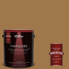 BEHR MARQUEE 1-gal. #S290-7 Wave of Grain Flat Exterior Paint, Golden Rice
