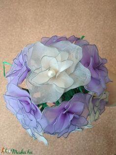 Esküvői csokor lila rózsákból (Bokretaberek) - Meska.hu