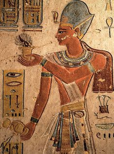 Ramses iii from his tomb at the valley of the kings Ancient Symbols, Ancient Art, Ancient Egypt, Ancient History, Egyptian Mythology, Egyptian Art, Greek Mythology, Solomons Temple, Arte Tribal
