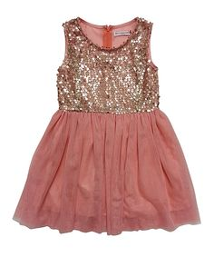 Love this Mini Treasure Kids Pink Tulle Sequin Fracnese Dress - Toddler & Girls by Mini Treasure Kids on #zulily! #zulilyfinds