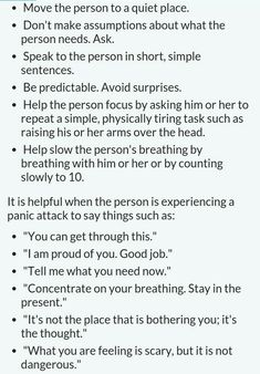 How to help someone during a panic attack