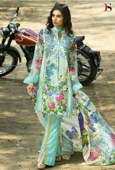 7ff80346da Deepsy Suits Fridous Printed Pure Cotton with Embroidery Work Pakistani  Suits at Wholesale Rate.
