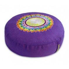 Meditatiekussen violet 7e chakra geborduurd - 33x15 cm -  Bekijk in de Patipada webshop https://patipada.nl/yogameditatie/meditatiekussen-chakra-7-sahasrara-violet/