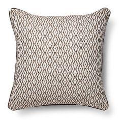 Threshold™ Diamond Stripe Throw Pillow - Brown