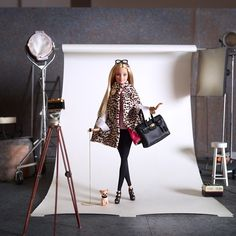 """Loving the first look @rachelzoe styled for me. It's perfect for fall and """"so maj!"""" ❤️#barbie #barbiestyle"""