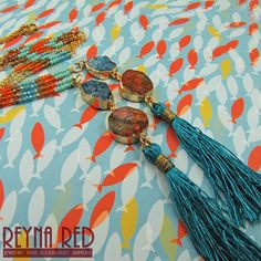 Rock Candy Tassel Necklace, Positano, tassel necklace, festival jewelry, boho, geode necklace, tassel jewelry, raw stone, druzy by reynared by ReynaRed on Etsy
