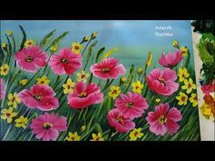 Flower Garden Painting | Acrylic Painting Tutorial - YouTube