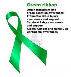 Green Ribbon. Organ Transplant And Organ Donation Awareness