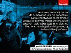 """Joachim Brudziński. Politycy PiS nie spuszczają z tonu nawet w obliczu kryzysu w parlamencie i masowych protestów. Wszystkiemu winna jest opozycja oraz """"stojące za nią siły""""."""