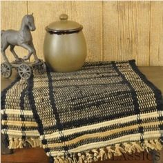 """Piper Classics - Blackstone Table Runner - 36"""" Long x 13"""" Wide. Machine wash, cool delicate cycle, line dry. 100% cotton."""