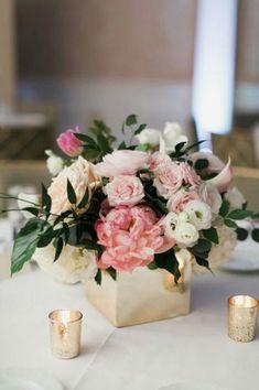 Wedding centerpiece in a square vase    wedding     weddingcenterpieces   #wedding #weddingcenterpieces   http://www.roughluxejewelry.com/