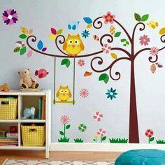 Decoración de búhos para habitación de princesa