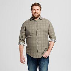 Men's Big & Tall Doubleweave Button Down Shirt