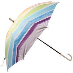 【LINEDROPS】キャンバスパラソル 折りたたみ日傘 50cm レインボー