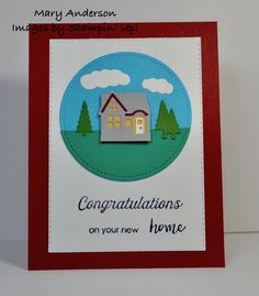 Congratulations on your new home Stampin Up, Catalog, Congratulations, New Homes, Cricut, Frame, Home Decor, Foil Stamping, Homemade Home Decor