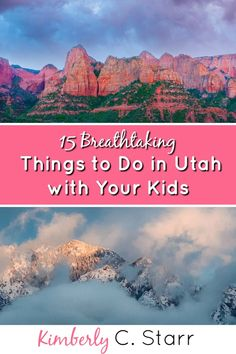 Are you looking for things to do in Utah with kids in tow? Whether you're headed here in winter, spring, summer, or fall, this list of 15 breathtaking things to do (and National Parks to see) will jumpstart your vacation planning. Enjoy every inch of the state, including cities like Salt Lake City, Ogden, and Provo. #thingstodoinutah #familyvacation #utahtravel