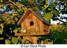 Stock Images of birdhouse - Rustic old birdhouse csp15234457 - Search Stock Photos, Pictures, Photographs, and Photo Clipart