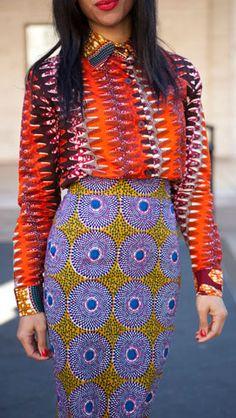 NYFW street style mixing patterns
