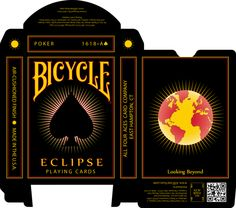 Caleb Gates is raising funds for 'Eclipse' Playing Card Deck on Kickstarter! Custom Playing Card Deck Printed by Bicycle. The Eclipse Deck is an Explosion of Color Contrasted Against a Dark Night Sky. Custom Playing Cards, Bicycle Playing Cards, Deck Of Cards, Card Deck, Total Eclipse, Dark Night, Night Skies, Design Crafts, I Card
