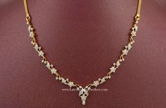 diamond necklace designs india | Simple and light weight latest Indian diamond necklace designs in ...
