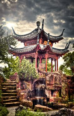 Chinese Garden by Here you relax with these backyard landscaping ideas and landscape design. Chinese Culture, Japanese Culture, Japanese Art, Chinese Buildings, Ancient Chinese Architecture, Chinese Courtyard, Chinese Garden, Architecture Du Japon, Architecture Office