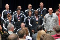 Chief of Staff of the Army Gen. Ray Odierno met with Soldiers during the DoD Warrior Games Recognition Ceremony, June 25, 2012, in the Pentagon Courtyard. Each of the five Warrior Games teams selected ten members to represent their team at the ceremony. Soldier representatives at the event were: 1LT Lacey Hamilton, 1SG Rhoden Galloway, SSG Michael Kacer, SGT John Masters, Sgt. Fred Prince, SGT Margaux Vair, CPL Brian Miller, SPC Elizabeth Wasil, SGT Anthony Robinson, and LTC Danny Dudek.