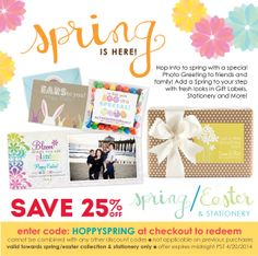 SAVE 25%0FF our Easter/ Spring collection for a limited time only!